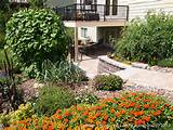 ... under Deck with Retaining Wall & Steps - Minnesota Landscaping Ideas