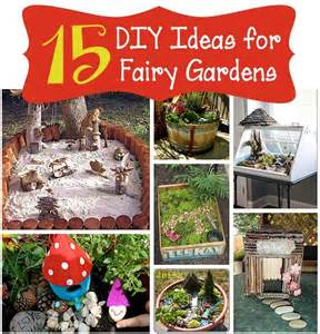 15 DIY Fairy Garden Ideas | Backyard Fun | Pinterest