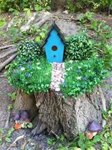 stump garden tree stump garden fairy fun pinterest