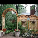 Great fence and arbor! | Small Garden Ideas | Pinterest