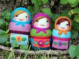 needle felted russian dolls | Girl Scouts|Swaps | Pinterest