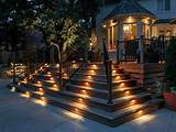 outdoor attractive outdoor step lighting ideas outdoor step deck