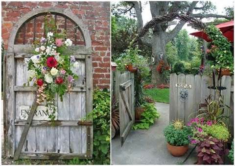 rustic garden gates for pinterest