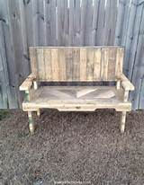 pallets made chair bench pallets ideas designs diy