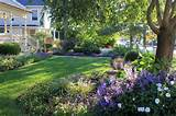 front yard landscape in ridgefield connecticut traditional landscape