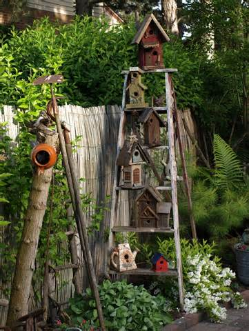 Decorate your Garden for Springtime. Use an old ladder to display ...