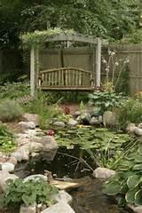 Garden bench Pergola Garden Pond Floral stones design ideas