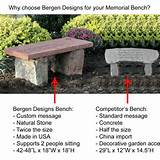 Personalized Memorial Benches, so Unique and so Beautiful!!!