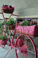 garden ideas bike flower planter, flowers, gardening, repurposing ...