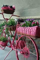 garden ideas bike flower planter flowers gardening repurposing