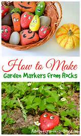 to make garden markers from rocks a cute spring craft for children