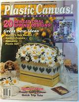 plastic canvas magazine march april 1994 by anitabselling on etsy