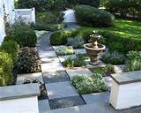 natural stone is a popular material for garden paths