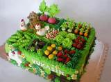 Fun, cute, garden cake | Birthday Cake Ideas | Pinterest