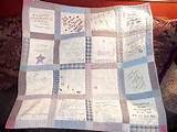 Memory quilt ideas for baby shower