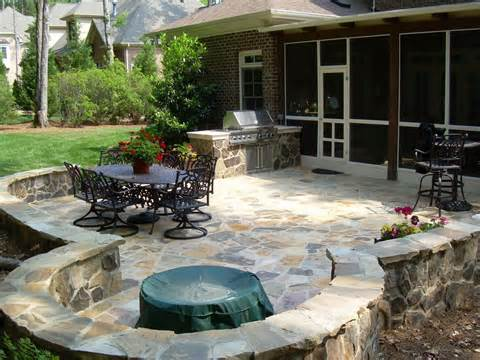 raleigh stone patio.jpg from Down to Earth Landscape Designs, Inc. in ...