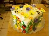 flower garden cake cake decorating community cakes we bake