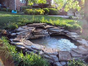 backyard pond waterfall - Backyard Pond Ideas That Are Affordable but ...