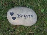 Personalized Pet Memorial Garden Stone Grave Marker 6-7 Inches ...