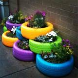 Old tires | garden ideas and garden art | Pinterest