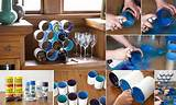 ... To Reuse Empty Cans At Home home designing diy wine bottle rack