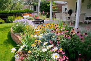 ... , Flagstone Retaining Wall, Perennial Garden, Landscape Plantings