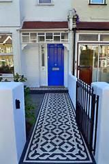 photinia hedge bespoke metal rails quality mosaic tile path