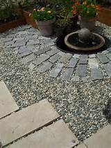 three paving materials used for a patio - Photo © Lisa Hallett Taylor