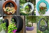 How to DIY Recycled Tire Teacup Planters (Video)