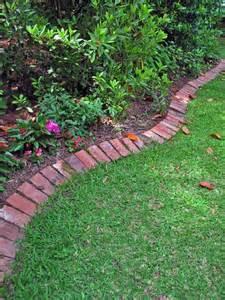 Crisp Brick Edging - I could do this! | gardening | Pinterest