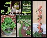 original ideas for container gardens. I love the cinder block idea ...