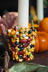 thanksgiving craft for kids the bean candle holder