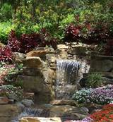 download this garden waterfalls picture