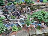 decoracion piedras jardines casita miniatura