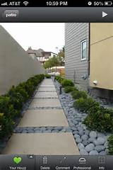 stone walkway with succulents outdoors pinterest