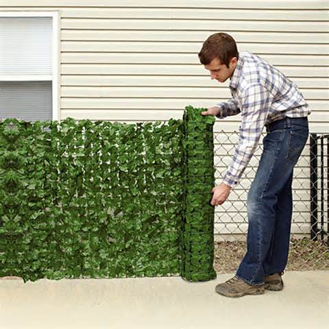and garden accessories fences edging faux ivy privacy screen
