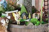 fairy garden with a rustic setting