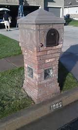 Inspirations Brick Mailbox For Simple Yard Garden Design Ideas...