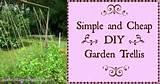 simple and cheap diy garden trellis