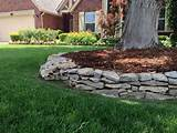tulsa landscape dry stacked plate limestone wall edging jpg