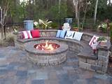 Outdoor stone circle bench   Outside Ideas   Pinterest