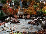 chairs fireplace seating fall leaves exterior how to enjoy garden ...