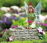 new memorial garden faux stone w fairy flowers poem yard cemetery de
