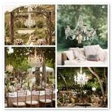 vintage wedding ideas chandeli outdoor country rustic