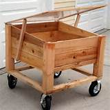 above ground garden box on wheels garden ideas pinterest