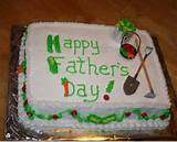 Photograph of Fathers day garden cake