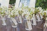 escort card ideas - miniature flower vases as escort cards (by joblake ...