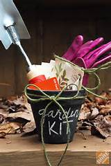DIY Gift Ideas: Gardening Kit in Chalkboard Pot - The Home Depot