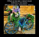 spring garden ideas bicycle planter