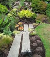 landscape ideas original path in rock garden hidden among plants